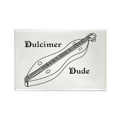 Dulcimer Dude Rectangle Magnet