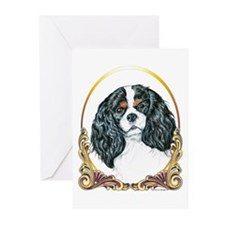 Cavalier King Charles Spaniel Gold Greeting Cards