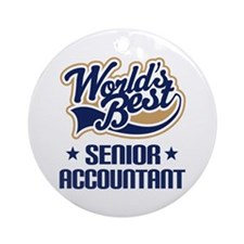 Senior Accountant (Worlds Best) Ornament (Round)