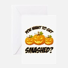 Smashed Happy Halloween Greeting Cards