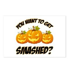 Smashed Happy Halloween Postcards (Package of 8)