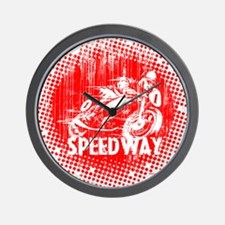 Speedway Motorcycle Racer Wall Clock