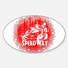 Speedway Motorcycle Racer Decal