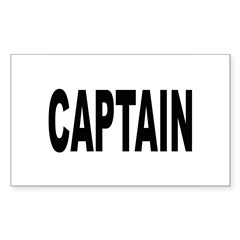 Captain Rectangle Sticker