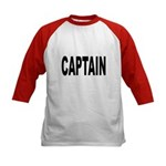 Captain (Front) Kids Baseball Jersey