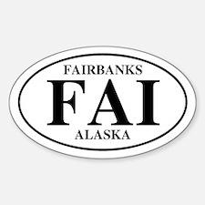 Fairbanks International Airpo Oval Decal