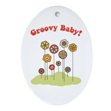 Groovy Baby Ornament (Oval)