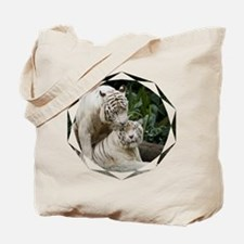 Kiss love peace and joy white tigers lovers 1 Tote