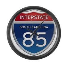 Interstate 85 Large Wall Clock