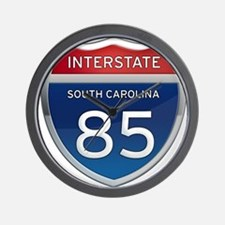 Interstate 85 Wall Clock