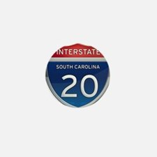 Interstate 20 Mini Button