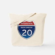 Interstate 20 Tote Bag