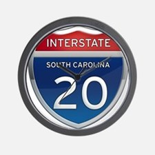 Interstate 20 Wall Clock