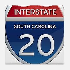 Interstate 20 Tile Coaster