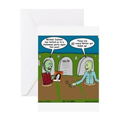 Zombie Halloween Party Greeting Card