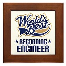 Recording Engineer (Worlds Best) Framed Tile