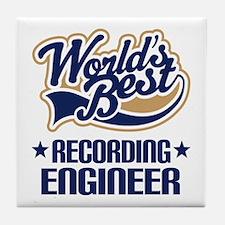 Recording Engineer (Worlds Best) Tile Coaster