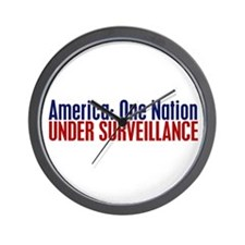 America: One Nation Under Surveillance Wall Clock