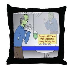 Zombie Restaurant Employees Throw Pillow