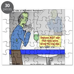 Zombie Restaurant Employees Puzzle