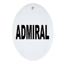 Admiral Oval Ornament