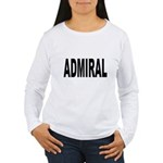 Admiral (Front) Women's Long Sleeve T-Shirt
