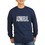 Admiral (Front) Long Sleeve Dark T-Shirt