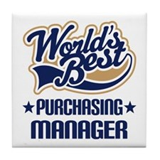 Purchasing Manager (Worlds Best) Tile Coaster