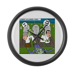 Zombie Surprise Large Wall Clock