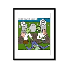 Zombie Surprise Framed Panel Print