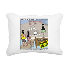 Zombie Island Rectangular Canvas Pillow