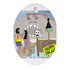Zombie Island Ornament (Oval)