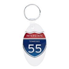 Interstate 55 Keychains