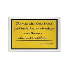 Twain Good Books--yellow Rectangle Magnet