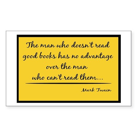 Twain Good Books--yellow Rectangle Sticker