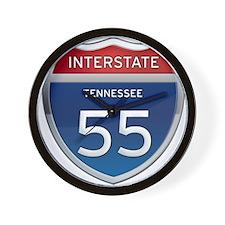 Interstate 55 Wall Clock