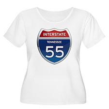 Interstate 55 Plus Size T-Shirt