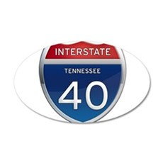 Interstate 40 Wall Decal