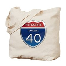 Interstate 40 Tote Bag
