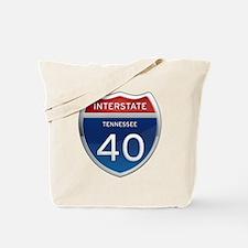 Interstate 40 Tote Bag