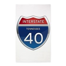 Interstate 40 3'x5' Area Rug