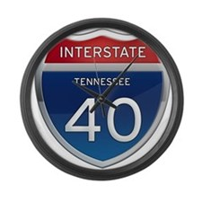 Interstate 40 Large Wall Clock