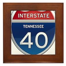 Interstate 40 Framed Tile