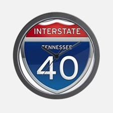Interstate 40 Wall Clock