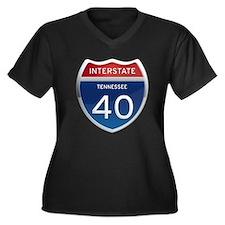 Interstate 40 Plus Size T-Shirt