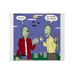 Zombie Vegan Throw Blanket