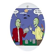 Zombie Vegan Ornament (Oval)