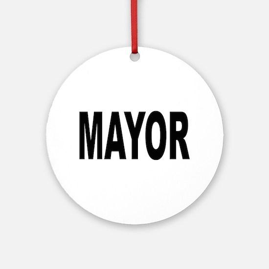 Mayor Ornament (Round)