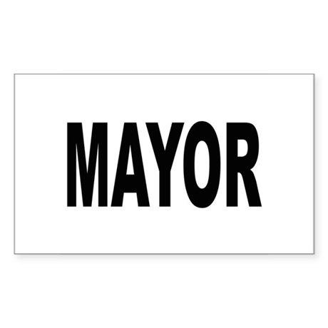 Mayor Rectangle Sticker