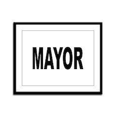 Mayor Framed Panel Print